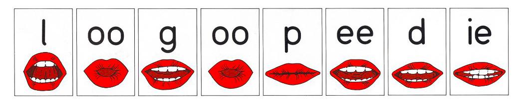 Logopedie afgebeeld met mondstanden voor spraakafzien